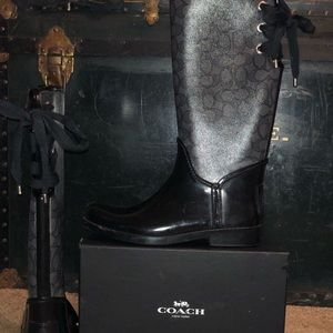 Glently worn Coach Tristee rain boot